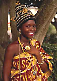 A young Ghanaian girl